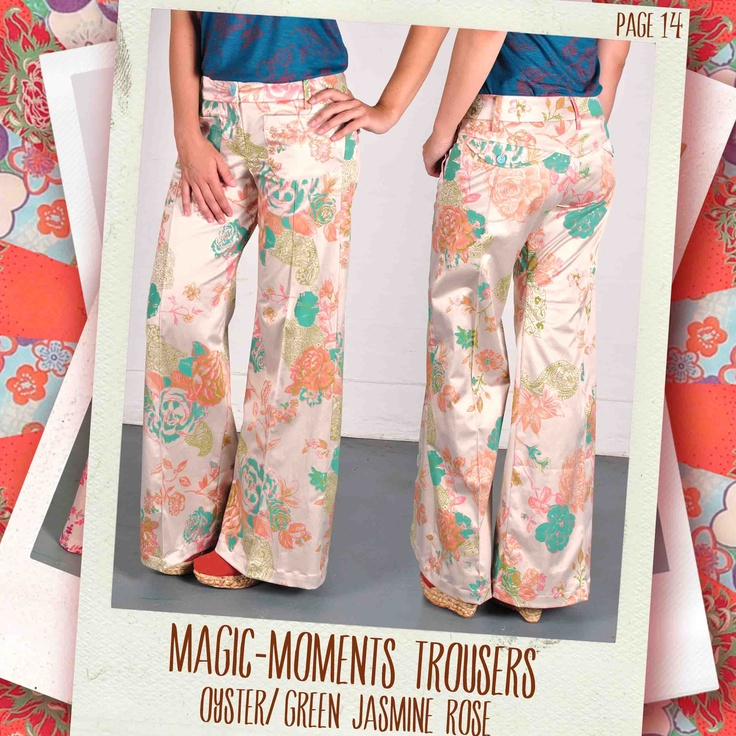 Magic-Moments trousers in Oyster/ jade Jasmine Rose