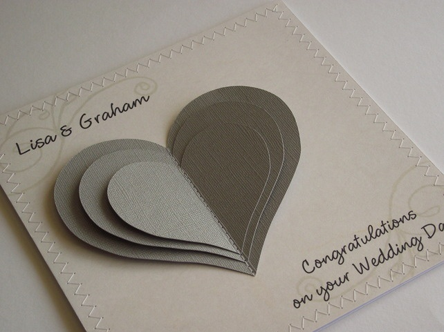 personalized wedding card