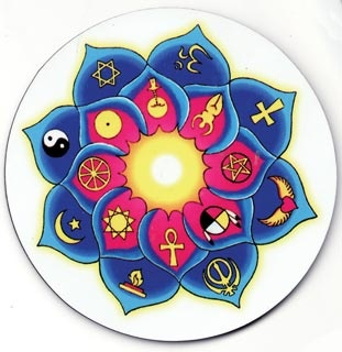 Universal Lotus Magnet : Pagan Store, Wiccan Store, Witchcraft Store, An online Pagan, Wiccan and Witchcraft store $3.75