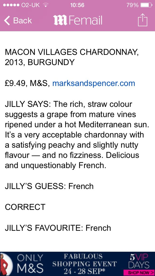 White Chardonnay m&s