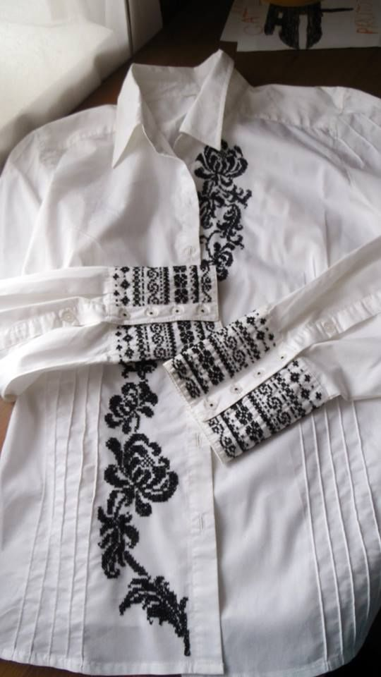 Diy Clothes Cross Stitch Blouse Hand Embroidery