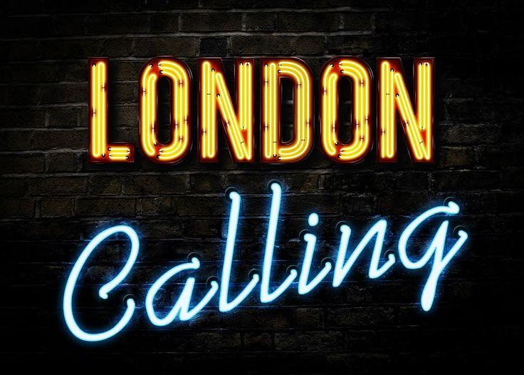 Neon Typography Photoshop Tutorial - London Calling: https://www.youtube.com/watch?v=PnCtDkXF5Pk
