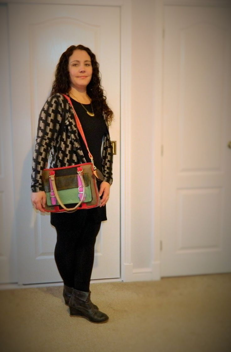 #whatIwore an upcycled leather bag by What Daisy Did