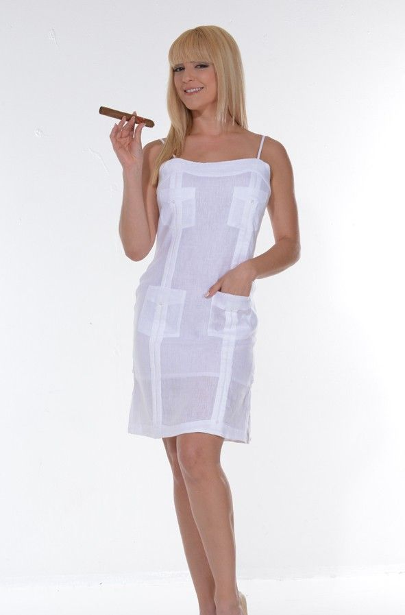 Spaguetti Strap guayabera for Ladies. Sexy Guayabera Dress. - Ladies Guayabera short dress (LLGD1301)Spaguetti strap guayabera for ladiesDelicate wash. Hand wash.Dry Clean for best resultAvailable in White.Size Chart available