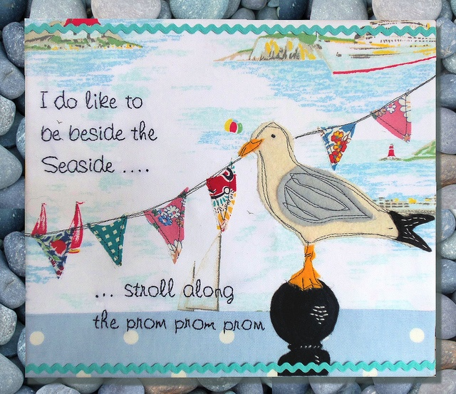 Seagull Applique by Bustle & Sew, via Flickr