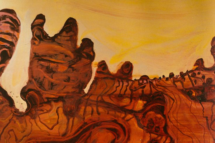 John Olsen - Detail of The Bungle Bungles. From 'The Land Beyond Time'.