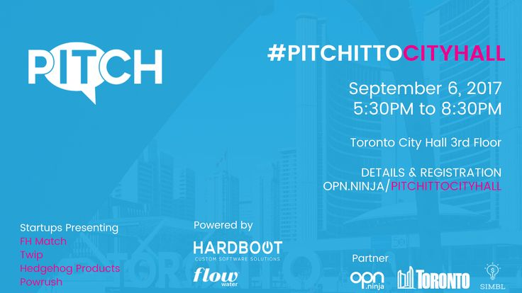 Come out tomorrow to watch us #PitchIt at Toronto City hall!