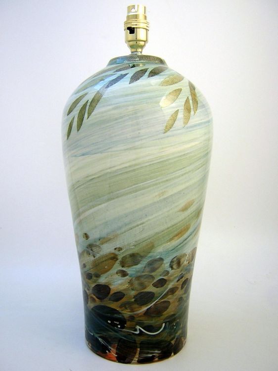 Large+lamp+base-River+design+£176+-+Hand+decorated+earthenware