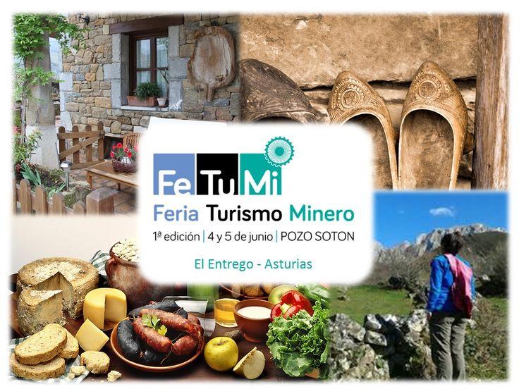 CELEBRAMOS LA 1ª FERIA de TURISMO MINERO en #Asturias, #FETUMI Si quieres conocer los Alojamientos, la GASTRONOMÍA, las ACTIVIDADES, la CULTURA y la ARTESANÍA de nuestros #municipiosMineros, visita, durante el fin de semana del 04 y 05 de junio, nuestras instalaciones #PozoSoton #Feria #ViveAsturias