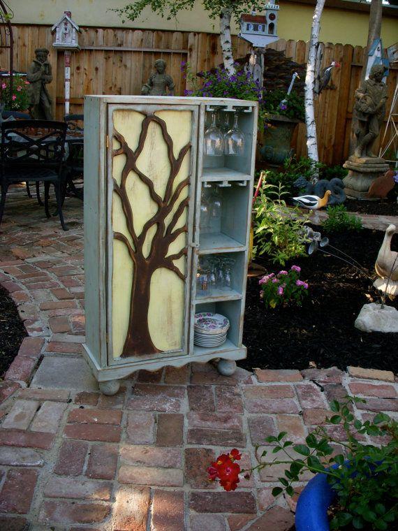 Wood Wine Rack Rustic Furniture Oak Tree By