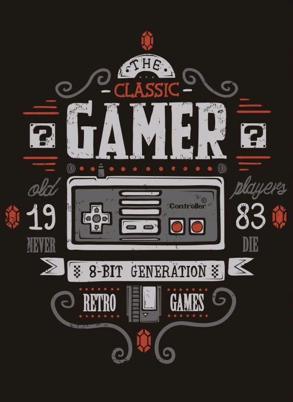 classic Gamer art print video game posters #videogameposters #gameposters�