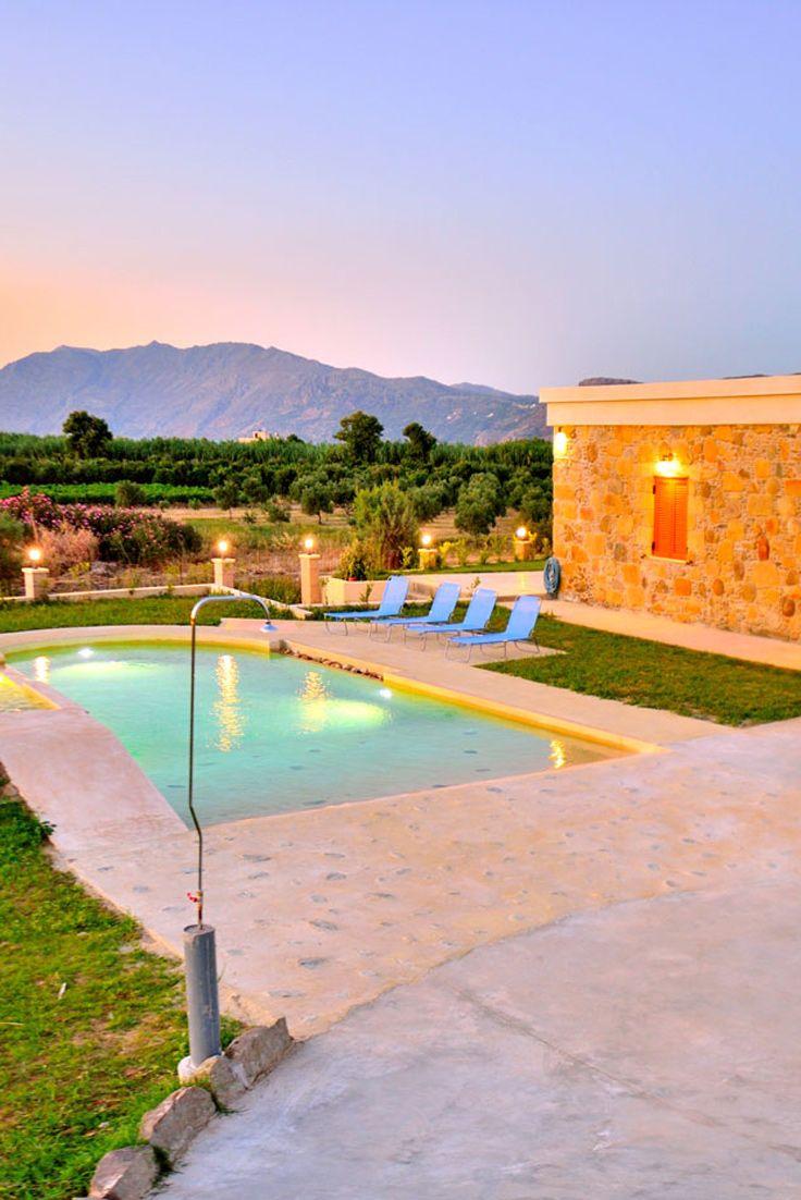 Iridanos Villa in Kissamos, Chania, Crete #travel #crete