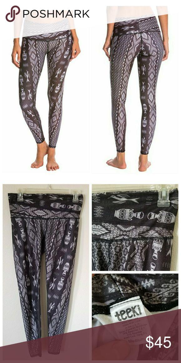 Teeki Diamond Tribe Charcoal Leggings Excellent condition! Very rare design! Only worn a few times! Soooo comfy! teeki Pants Leggings