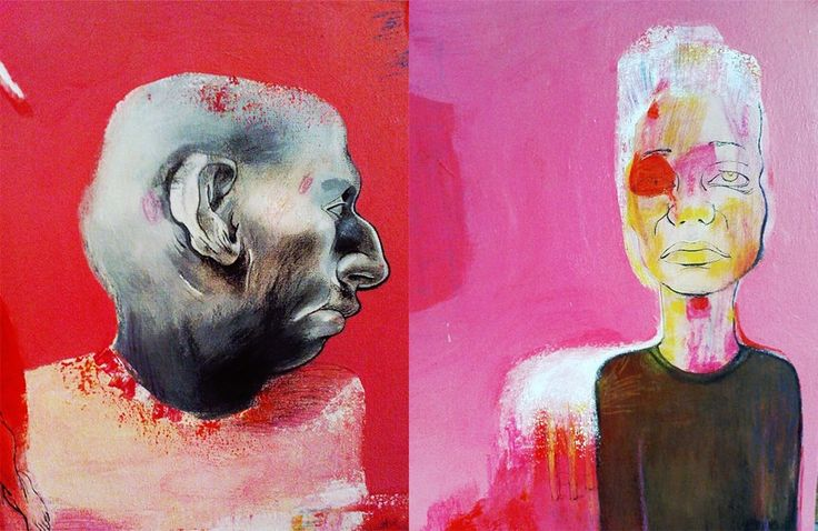 Nasrin CHARKHAT -  acrylic on canvase  - 100 * 70 cm - 2008