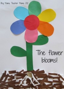 Nice art activity to incorporate the colors of the rainbow (light spectrum) with plant unit