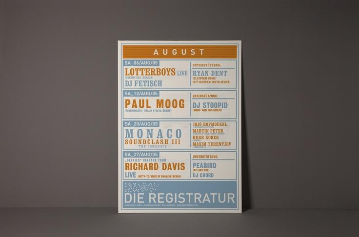 typography  Die Registratur – Plakate