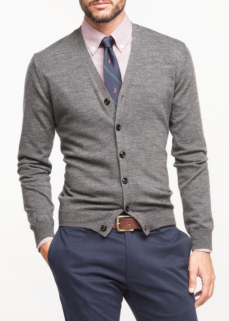 Premium v-neck wool cardigan