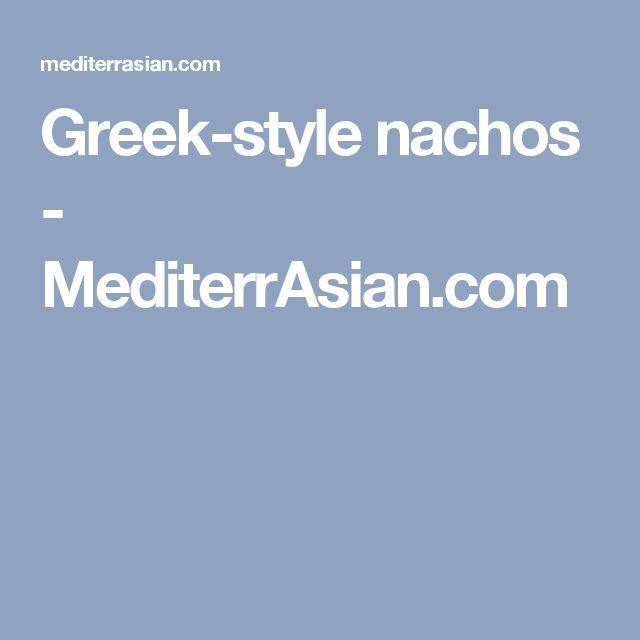 ... Nachos Grecques sur Pinterest | Nachos, Recettes De Nachos et Feta