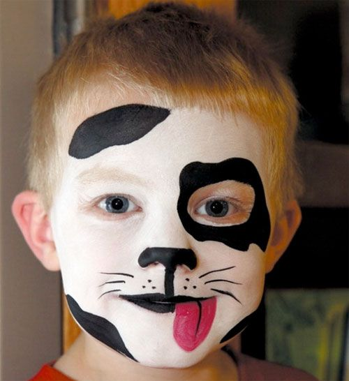 Trucco di Halloween per bambini da cagnolino