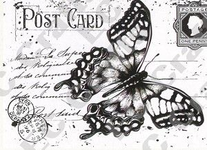 Joy! Crafts Stamp -Old Letter Butterfly