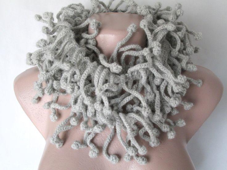 Crochet scarf,Chunky scarf,woolen scarf,Original scarf, handmade scarf,Ruffled…