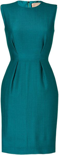 Roksanda Ilincic Petrol Woolcrepe Dress in Blue