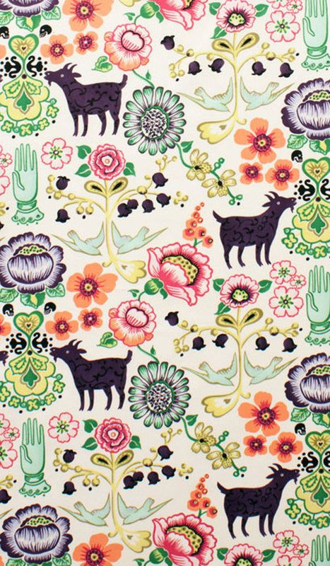 Folkloric Fabric by Alexander Henry 1/4 metre by BlackTulipQuilts2