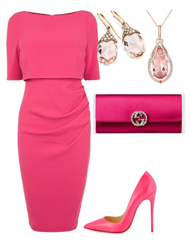 To much pink by alice-mcquinn on Polyvore featuring polyvore fashion style Coast Christian Louboutin Gucci
