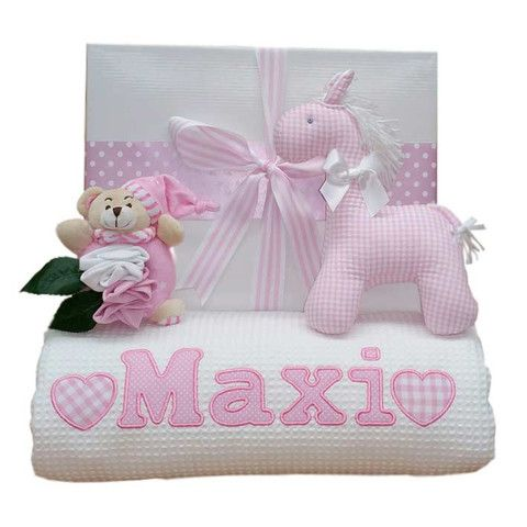 41 best baby girl gifts images on pinterest baby girl gifts luxury waffle personalised baby blanket negle Images