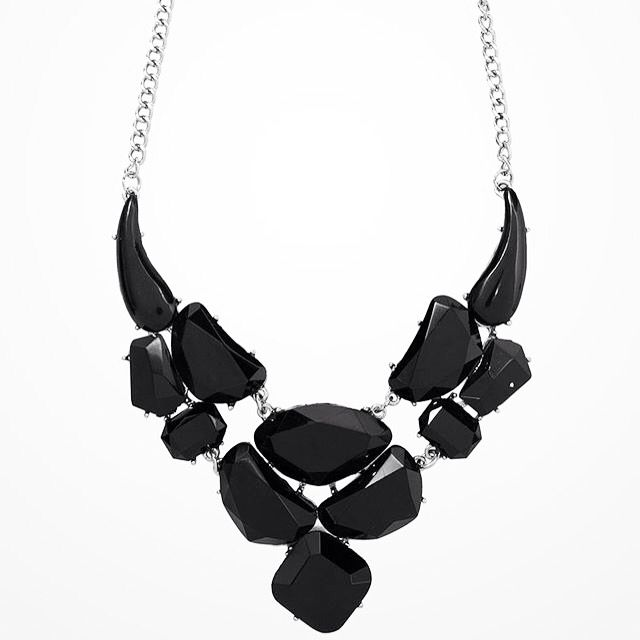 The Lili Necklace in black - buy now at www.daisyline.com.au