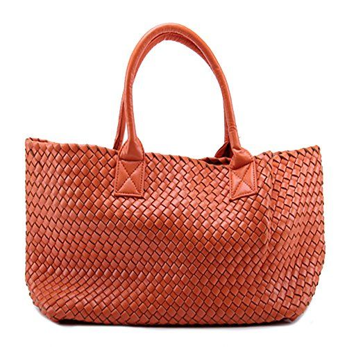 New Trending Tote Bags: New Womens Faux Woven Leather Fashion Celebrities Tote Bag w/ Bonus Coin Pouch (orange ). New Women's Faux Woven Leather Fashion Celebrities Tote Bag w/ Bonus Coin Pouch (orange )  Special Offer: $69.90  199 Reviews — Imitation Sheep leather upper — Woven leather, attached with small pocket(25x15cm) — Fashion elegant, It is real charm for...
