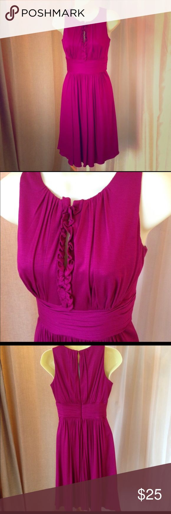 Kay Unger Dress Magenta light and airy Kay Unger dress. Key hole front and back with hidden zipper. Worn once, excellent condition Kay Unger Dresses