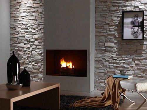 Cómo Decorar la Pared de tu Sala de Estar con Piedra - Para Más Información Ingresa en: http://fotosdesalas.com/como-decorar-la-pared-de-tu-sala-de-estar-con-piedra/