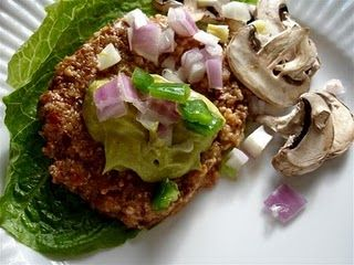 Raw mushroom burgers: Avocado Mayo, Food Recipes, Mushrooms Burgers, Mushroom Burger, Raw Vegans Recipes, Vegans Burgers, Raw Foods, Raw Vegan Recipes, Raw Mushrooms