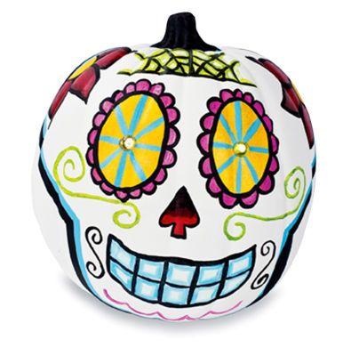 Día de los Muertos Skull Pumpkin