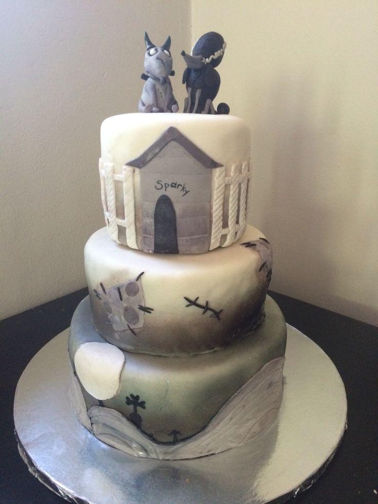 sparky and persephone frankenweenie cake for halloween corpse bridetim burtonawesome - Tim Burton Halloween Decorations
