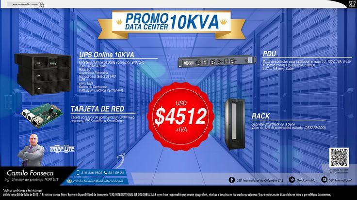 Promo Data Center 10KVA: Contacta a tu gerente de producto para más información: Camilo Fonseca Celular: 310 348 9803 – 316 495 1109 Email: camilo.fonseca@sed.international #TrippLite #SEDColombia