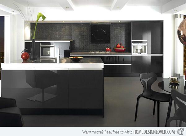 Best 25 high gloss kitchen cabinets ideas on pinterest for Black gloss kitchen ideas