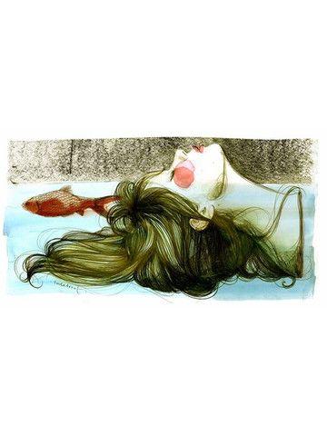 """La dona boia"" por Paula Bonet http://gnomo.eu/collections/paula-bonet/products/lamina-paula-bonet-la-dona-boia"