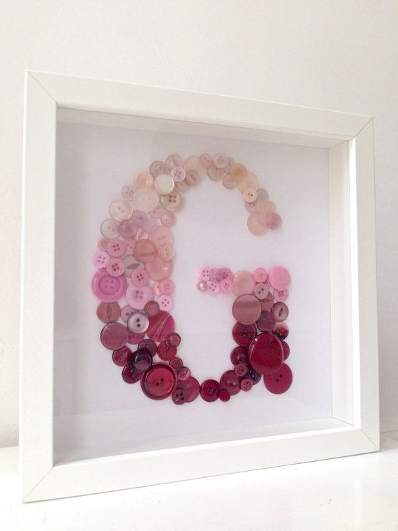 Baby Nursery Pink Burgundy Letter Initial by BuckleyandBlythe