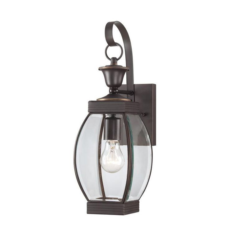 Quoizel Oasis 1 Light Tall Outdoor Wall Sconce With Clear Glass Medici Bronze Lighting Sconces Lantern