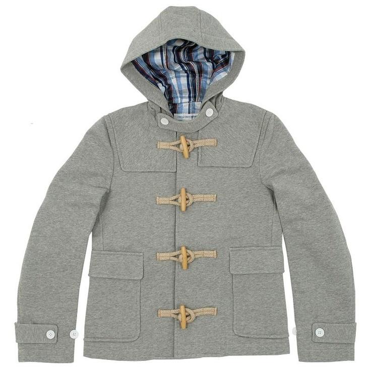 Comme Des Garçons SHIRT Jersey Duffle Coat  Grey