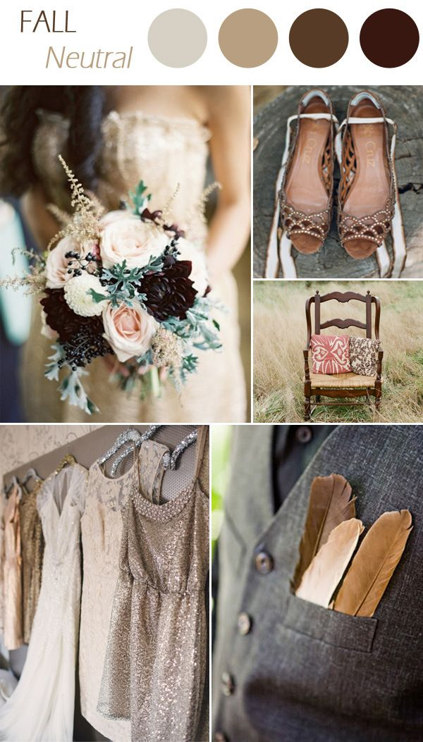 2015 trending neutral wedding colors for fall wedding ideas http://www.jexshop.com/
