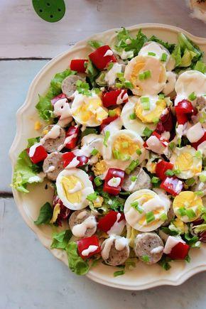 Wielkanocna sałatka z białą kiełbasą - kulinaria wielkanoc,biała kiełbasa,sałatak - kobiece inspiracje