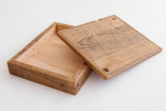 Grange recyclée Heirloom bois bijoux Photo boîte