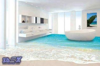 how to make 3d bathroom floor and 3d self leveling floor 3d floors rh pinterest it