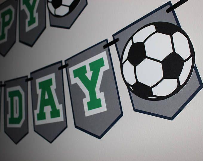 Fiesta de cumpleaños de fútbol fútbol bandera, bandera del atleta,