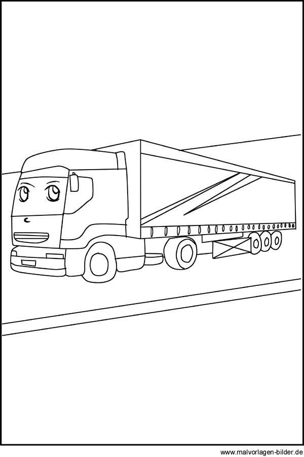 lastwagen  lkw  malvorlagen und ausmalbilder  ausmalen
