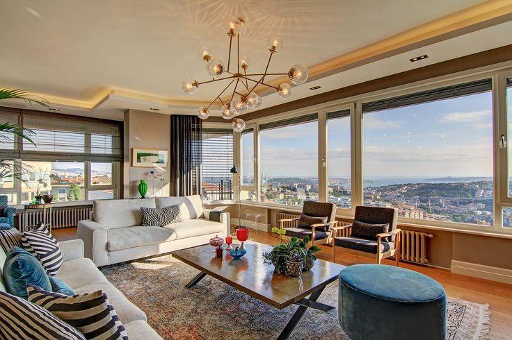 İstanbul bosphorus panorama scenic apartment for sale. Ulus, Beşiktaş, İstanbul. For details & virtual tour: http://emlakgezen.com/ilan/ulus-ta-marmara-girisinden-bogaz-manzarali-330-m2-kupon-daire/sanal-tur