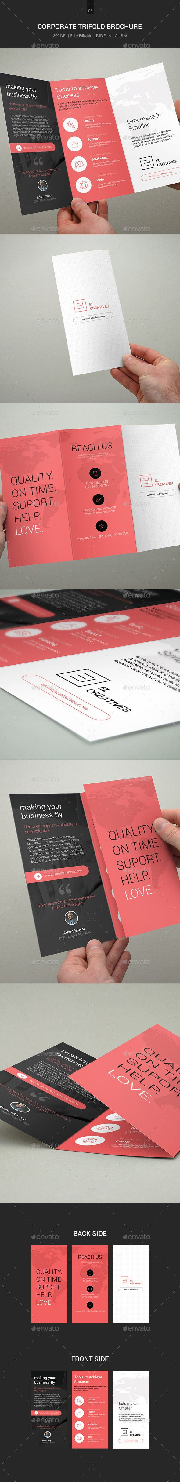 Minimal Corporate TriFold Brochure - 06 - Corporate Brochures